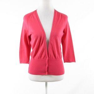 Piazza Sempione red cotton cardigan sweater IT40 6